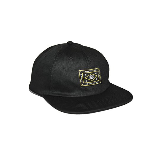 HELL VACATION LOGO 6 PANEL BLACK 1