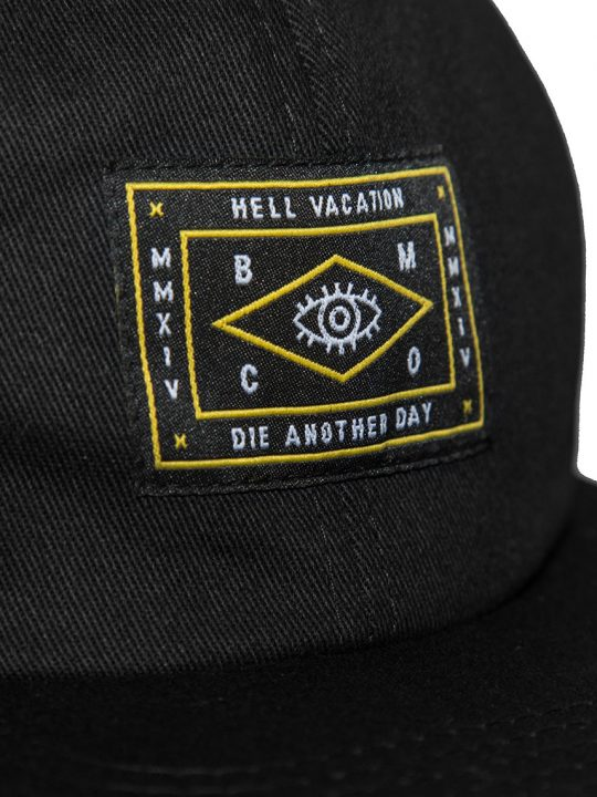 HELL VACATION LOGO 6 PANEL BLACK 2