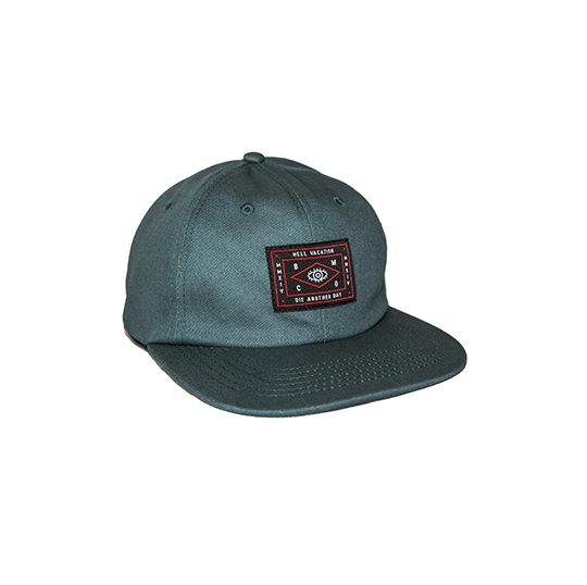 HELL VACATION LOGO 6 PANEL GREEN 1
