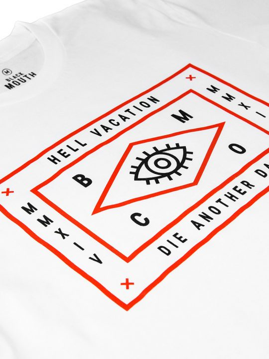 HELL VACATION LOGO TEE WHITE 2